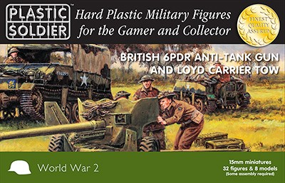Plastic Soldier WW2G15003  6 pdr anti tank gun and Loyd carrier