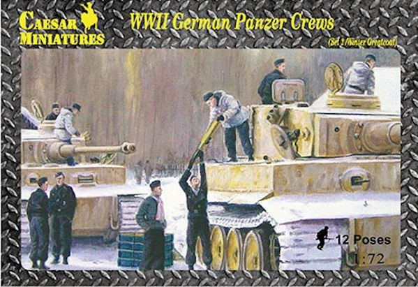 Caesar Miniatures CMHB005 WWII Panzer Crews allemand (Set 2 Winter / Greatcoat)