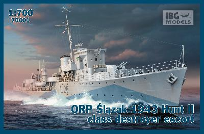 "IBG MODELS 70001 ORP ""SLAZAK"" 1943 - DESTROYER CLASSE HUNT II"