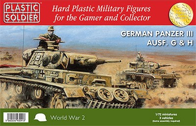 Plastic Soldier WW2V20010 Panzer III G, H ( 3 pièces)