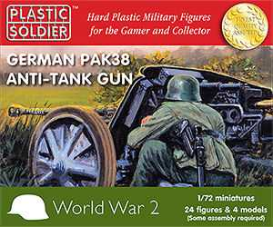 Plastic Soldier WW2G20003 German pak 38 anti char (4 canons)
