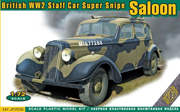 ACE 72550 Super Snipe Saloon British Staff Car WWII