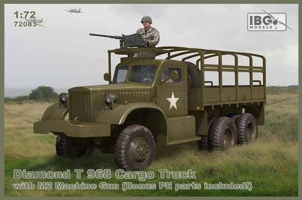 IBG 72083 Diamond T 968 Cargo Truck with M2 Machine Gun (Bonus photodécoupe)