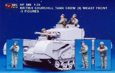 HOBBY FAN HF586 3 FIGURINES POUR CHURCHILL (2) - FRONT OUEST