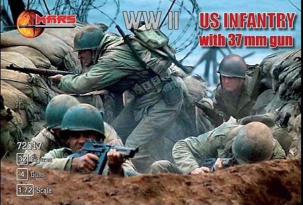 MARS 72017 Infanterie US + canon 37mm WWII