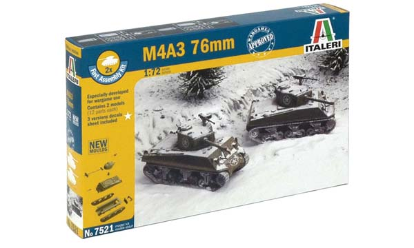 ITALERI 7521 M4A3 Sherman 76mm