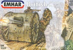 EMHAR 3502 British WWI Artillery with 18 pdr gun