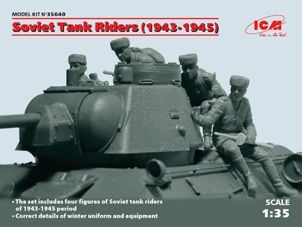 ICM 35640 Russian/Soviet Tank Riders (1943-1945) (4 figures) (100% new molds)