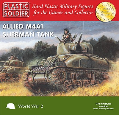 Plastic Soldier WW2V20004  Easy Assembly Sherman M4A1 76