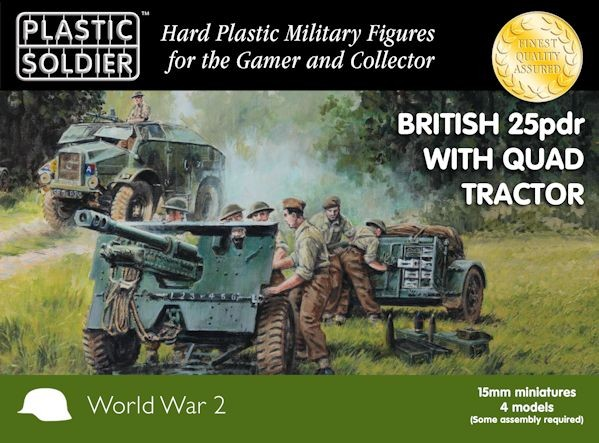 Plastic Soldier WW2G15005  25 pdr gun and Morris quad tractor