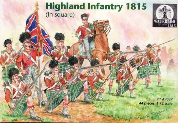 WATERLOO AP039 Highland Infantry 1815 in Square