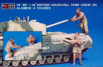 HOBBY FAN HF587 2 FIGURINES POUR CHURCHILL (3) - EL ALAMEIN