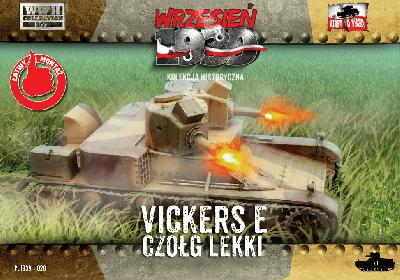 First to Fight 028 CHAR LEGER VICKERS E - (double tourelle) - ARMEE POLONAISE 1939