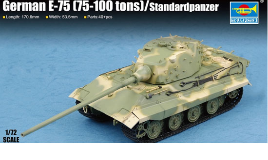 Trumpeter 07125 German E-75 (75-100 tons) / Standardpanzer