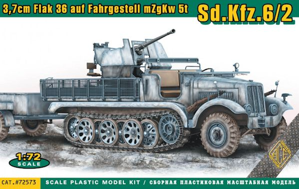 ACE 72573 Sd.Kfz.6/2 3.7cm Flak 36 on chassis mZgKw 5t