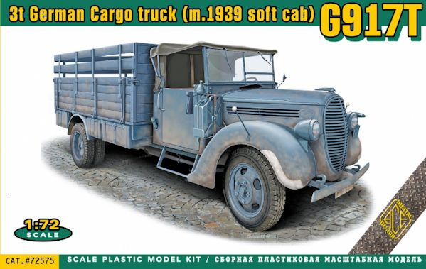 ACE 72575 G917T 3t German Cargo truck (m.1939 soft cab)