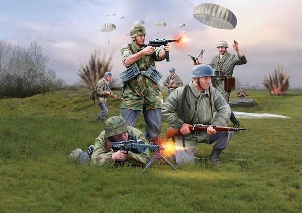 Revel 02532 GERMAN PARATROOPS (WWII)