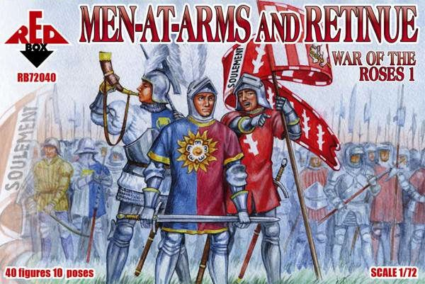 REDBOX 72040 War of the Roses 1. Men-at-Arms and Retinue.