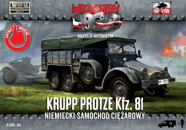 First to Fight 061 Krupp-Protze 81 German Truck