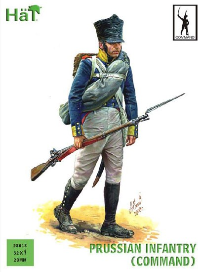 HAT 28015 COMMANDEMENT INF. PRUSSE 28mm
