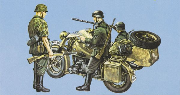 ITALERI 315  BMW R75 with Sidecar