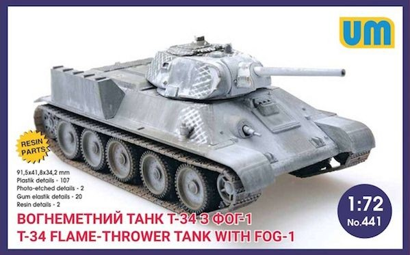 UM 441 Russian T-34 Flamethrower with FOG-1