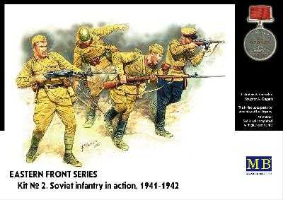 MASTER BOX 3523 FANTASSINS SOVIETIQUES en action 1941-42