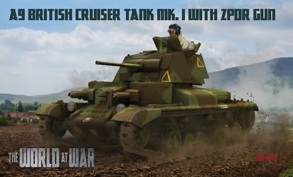 IBG WAW011 A9 British Cruiser Tank Mk.I with 2pdr gun