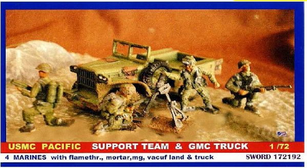 SWORD 172192 USMC Pacific support Team and GMC Truck