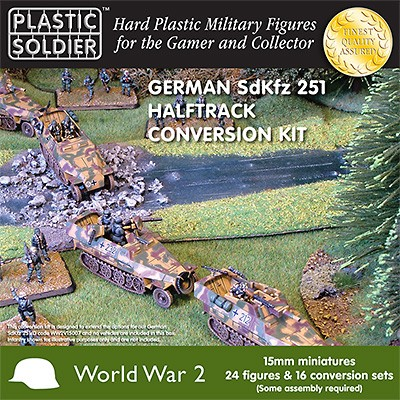 Plastic Soldier WW2V15013 WW2 German SdKfz 251/D Halftrack Conversion Kit