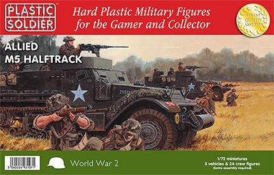 Plastic Soldier WW2V20013 Allied M5 Halftrack (3 véhicules)