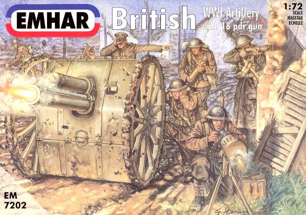 EMHAR 7202 British wwi artillery with 18 pdr gun